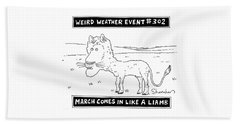 March Comes In Like A Liamb Beach Towel