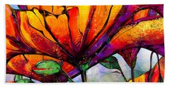 March Of The Poppies Beach Towel