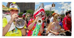 Beach Towel featuring the photograph Marching Band by Ed Weidman
