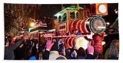 New Orleans Mardi Gras 2014 Orpheus Super Float Smokey Mary Beach Towel