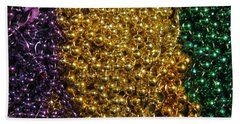 Mardi Gras Beads - New Orleans La Beach Towel
