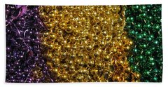 Mardi Gras Beads - New Orleans La Beach Sheet