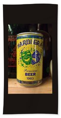 Mardi Gras Beer 1983 Beach Towel