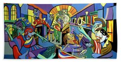 Mardi Gras Lets Get The Party Started Beach Towel