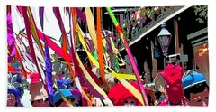 Mardi Gras Marching Parade Beach Towel