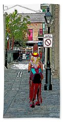 Mardi Gras In French Quarter Beach Towel by Luana K Perez