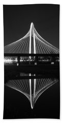 Margaret Hunt Hill Bridge Reflection Beach Towel