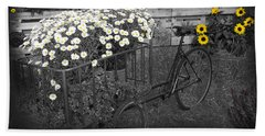 Marguerites And Bicycle Beach Towel
