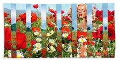 Marilyn In Poppies 1 Beach Towel