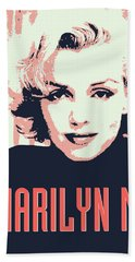 Marilyn M Beach Towel by Chungkong Art