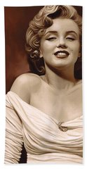 Marilyn Monroe Artwork 2 Beach Sheet by Sheraz A