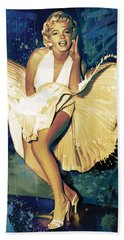 Marilyn Monroe Artwork 4 Beach Towel by Sheraz A