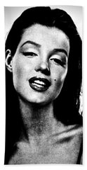 Marilyn Monroe--brunette Beach Sheet by Saundra Myles
