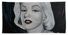 Beach Towel featuring the painting Marilyn Monroe by Julie Brugh Riffey