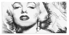 Marilyn Monroe - The One And Only  Beach Towel
