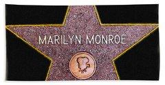 Marilyn Monroe's Star Painting  Beach Sheet