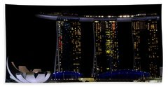 Marina Bay Sands Integrated Resort Hotel And Casino And Artscience Museum Singapore Marina Bay Beach Towel