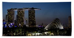 Marina Bay Skyline Beach Towel