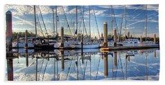 Marina Morning Reflections Beach Sheet