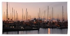 Marina Sunrise 12 Beach Towel
