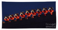 Marine Band At Night Beach Towel