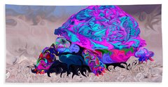 Marine Corporal's Turtle In Peace Paint V2 Beach Towel