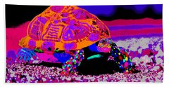 Marine Corporals Turtle In Peace Paint V3 Beach Towel