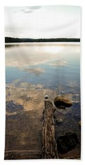 Marion Lake Reflections Beach Towel