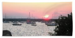 Beach Towel featuring the photograph Marion Massachusetts Bay by Kathy Barney