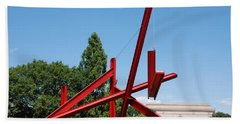 Mark Di Suvero Steel Beam Sculpture Beach Sheet