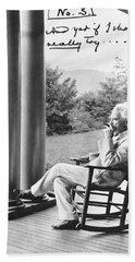 Mark Twain On A Porch Beach Towel