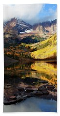 Maroon Bells Autumn Beach Sheet