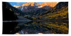 Maroon Bells Landscape Beach Towel by Ronda Kimbrow