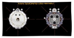 Mars Spaceship Hermes1 Front And Rear Beach Towel