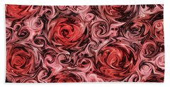 Marsala Roses Beach Towel