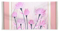 Marsh Flowers Beach Towel by Ron Davidson