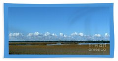 Marsh In Panacea Florida Beach Towel
