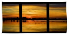 Marsh Rise Tiles 1-3 Beach Towel by Bonfire Photography