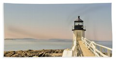 Marshall Point Lighthouse Maine Beach Towel