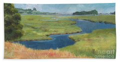 Marshes At High Tide Beach Towel