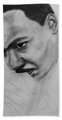 Beach Sheet featuring the drawing Martin Luther King Jr. Mlk Jr. by Michael Cross