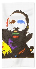 Beach Sheet featuring the painting Marvin Gaye by Stormm Bradshaw