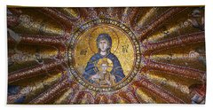 Blessed Virgin Mary And The Child Jesus Beach Towel