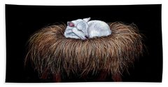 Beach Towel featuring the painting Mary Had A Little Lamb by Dee Dee  Whittle