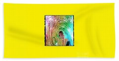 Mary In The Field Beach Towel