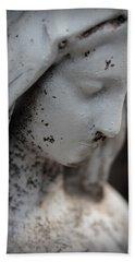 Mary In The Garden Beach Sheet by Lynn Sprowl