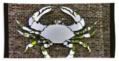 Maryland Country Roads - Camo Crabby 1a Beach Towel