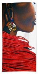 Masai Bride - Original Artwork Beach Sheet