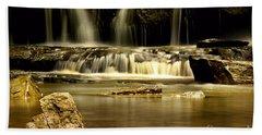 Mash Fork Falls Beach Sheet by Melissa Petrey