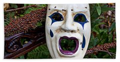 Mask And Ladybugs Beach Towel by Garry Gay